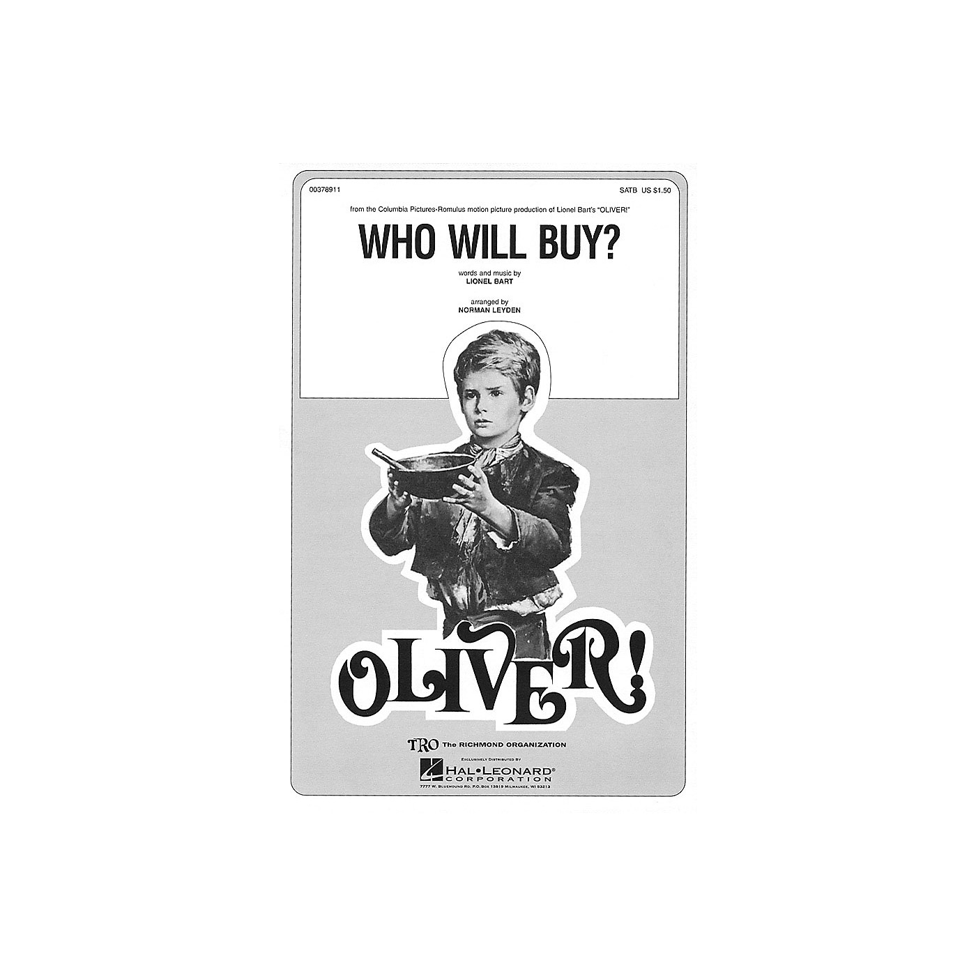 TRO ESSEX Music Group Who Will Buy? (from Oliver) SATB Arranged by Norman Leyden thumbnail