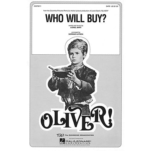 TRO ESSEX Music Group Who Will Buy? (from Oliver) SSA Arranged by Norman Leyden thumbnail
