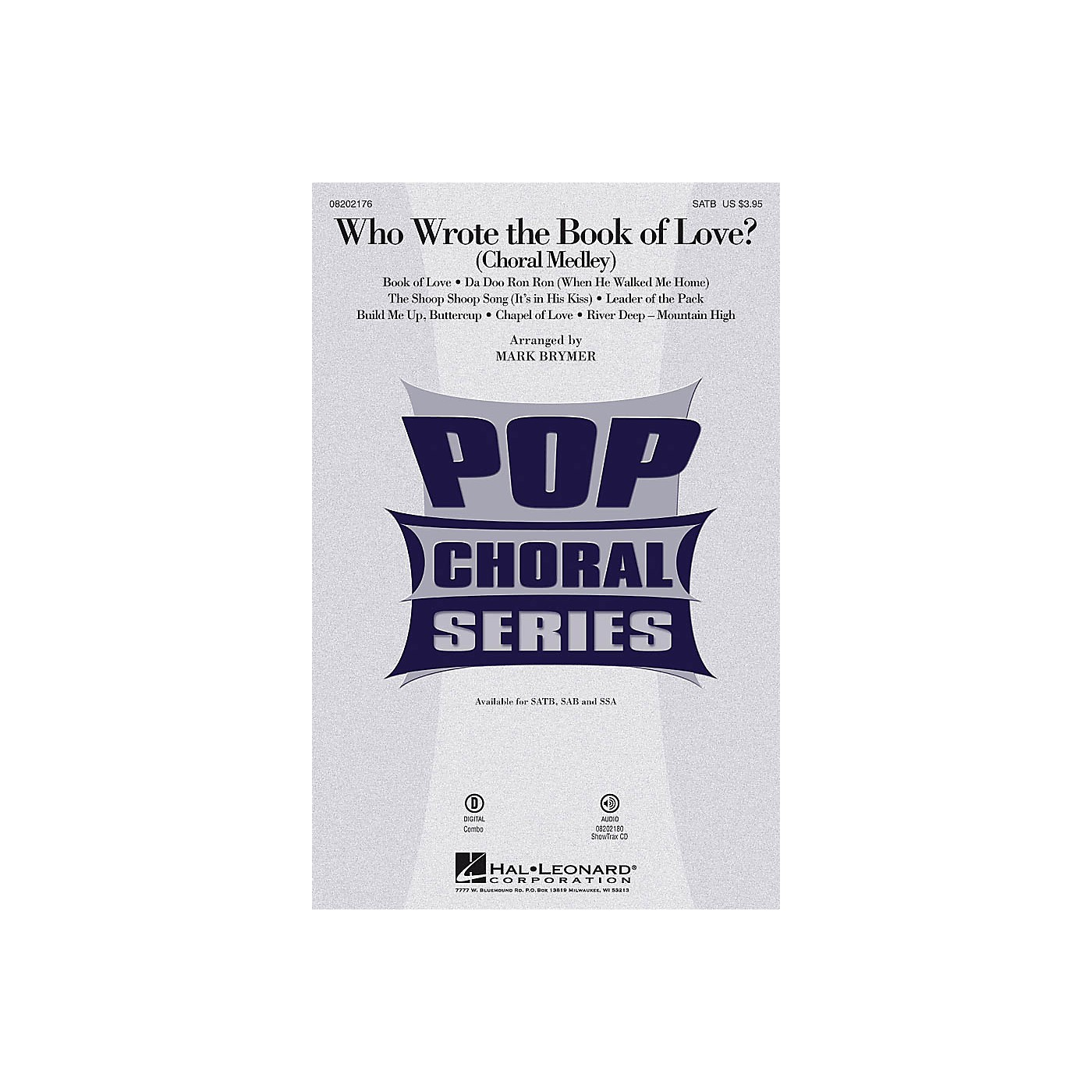 Hal Leonard Who Wrote the Book of Love? (Choral Medley) SATB arranged by Mark Brymer thumbnail