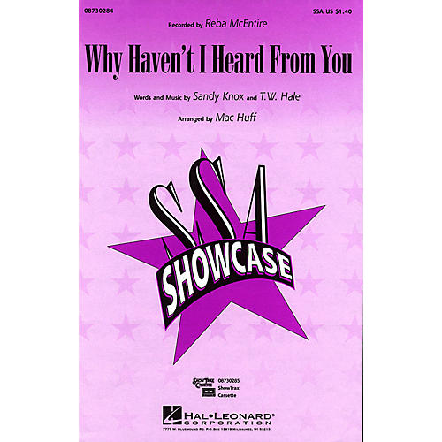 Hal Leonard Why Haven't I Heard from You SSA by Reba McEntire arranged by Mac Huff thumbnail