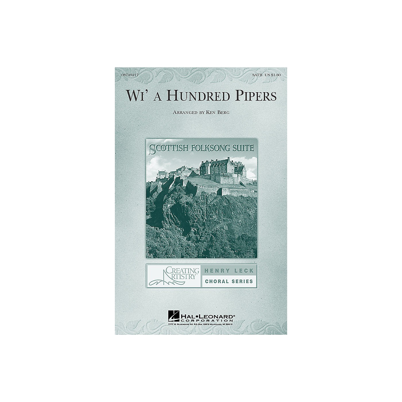 Hal Leonard Wi' a Hundred Pipers (from Scottish Folksong Suite) (SATB) SATB arranged by Ken Berg thumbnail