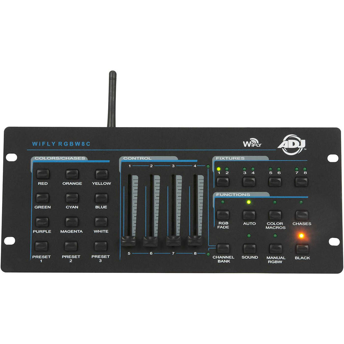 American DJ WiFly RGBW8C Wireless 4 Channel Color Mixing Controller thumbnail