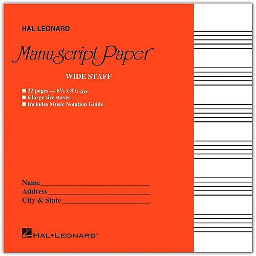 Hal Leonard Wide Staff Manuscript Paper (Red Cover) thumbnail