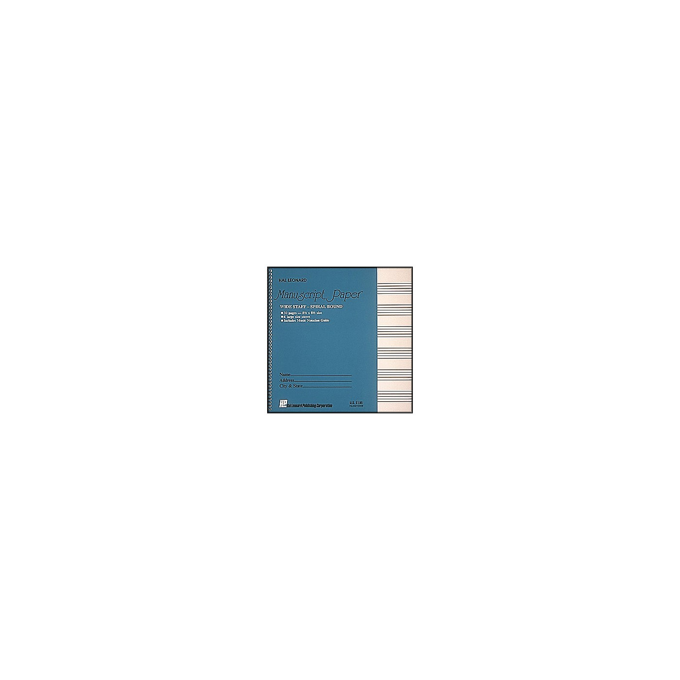 Hal Leonard Wide Staff Spiral Bound Manuscript Paper thumbnail