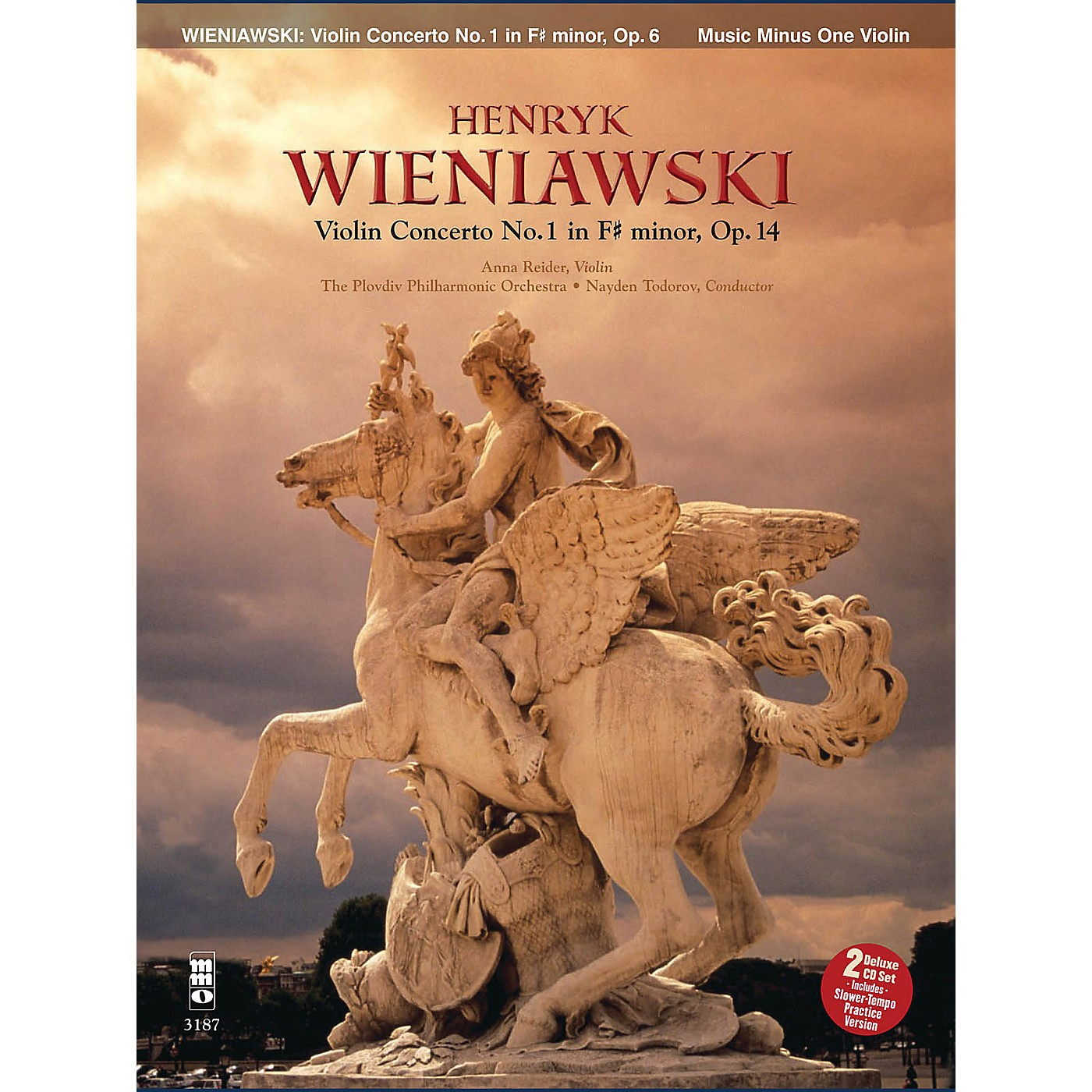 Music Minus One Wieniawski - Concerto No. 1 in F-sharp Minor, Op. 14 (2-CD Set) Music Minus One Series Softcover with CD thumbnail