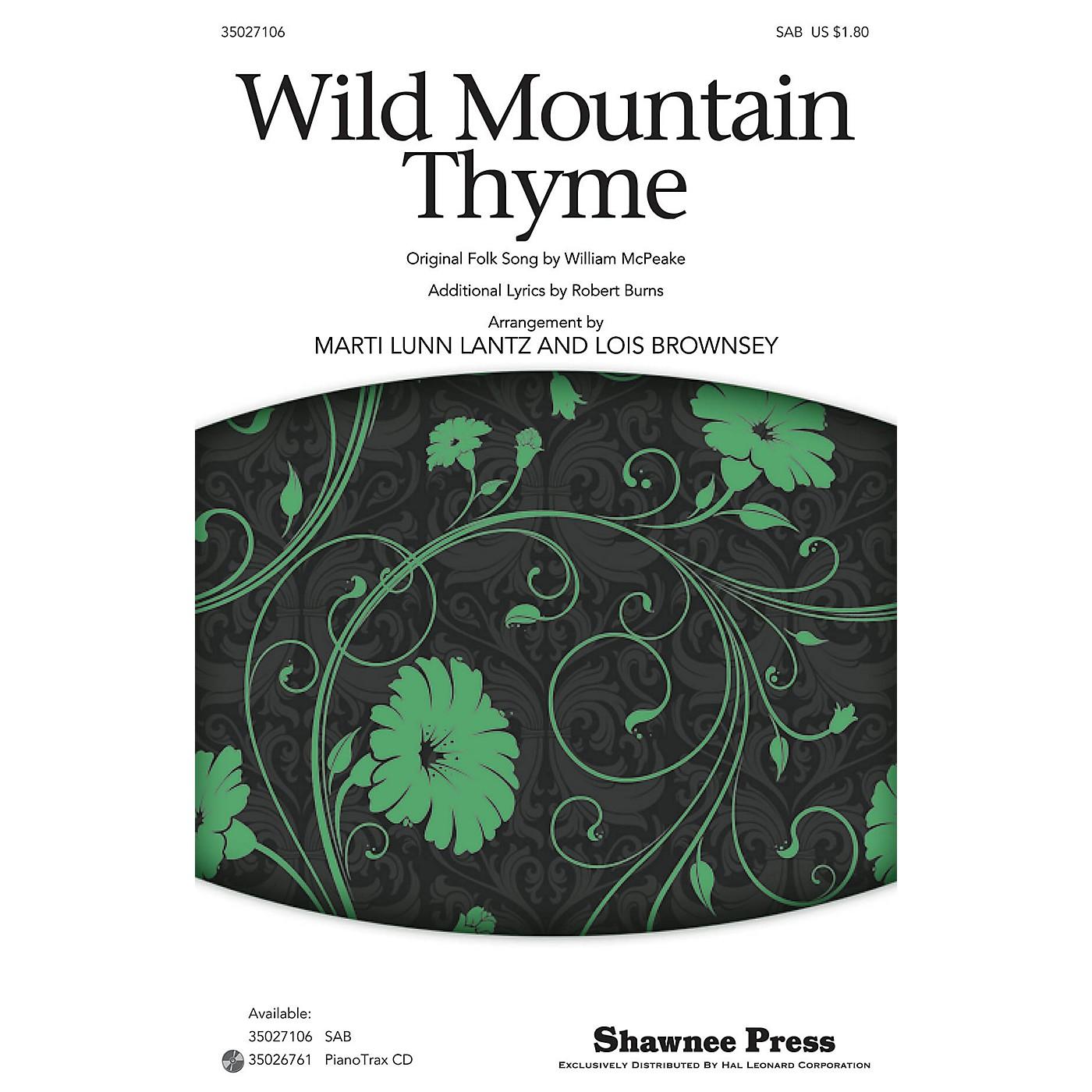 Shawnee Press Wild Mountain Thyme SAB arranged by Marti Lunn Lantz thumbnail