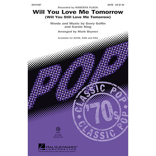 Hal Leonard Will You Love Me Tomorrow (Will You Still Love Me Tomorrow) ShwTrx CD by Roberta Flack Arranged by Brymer thumbnail