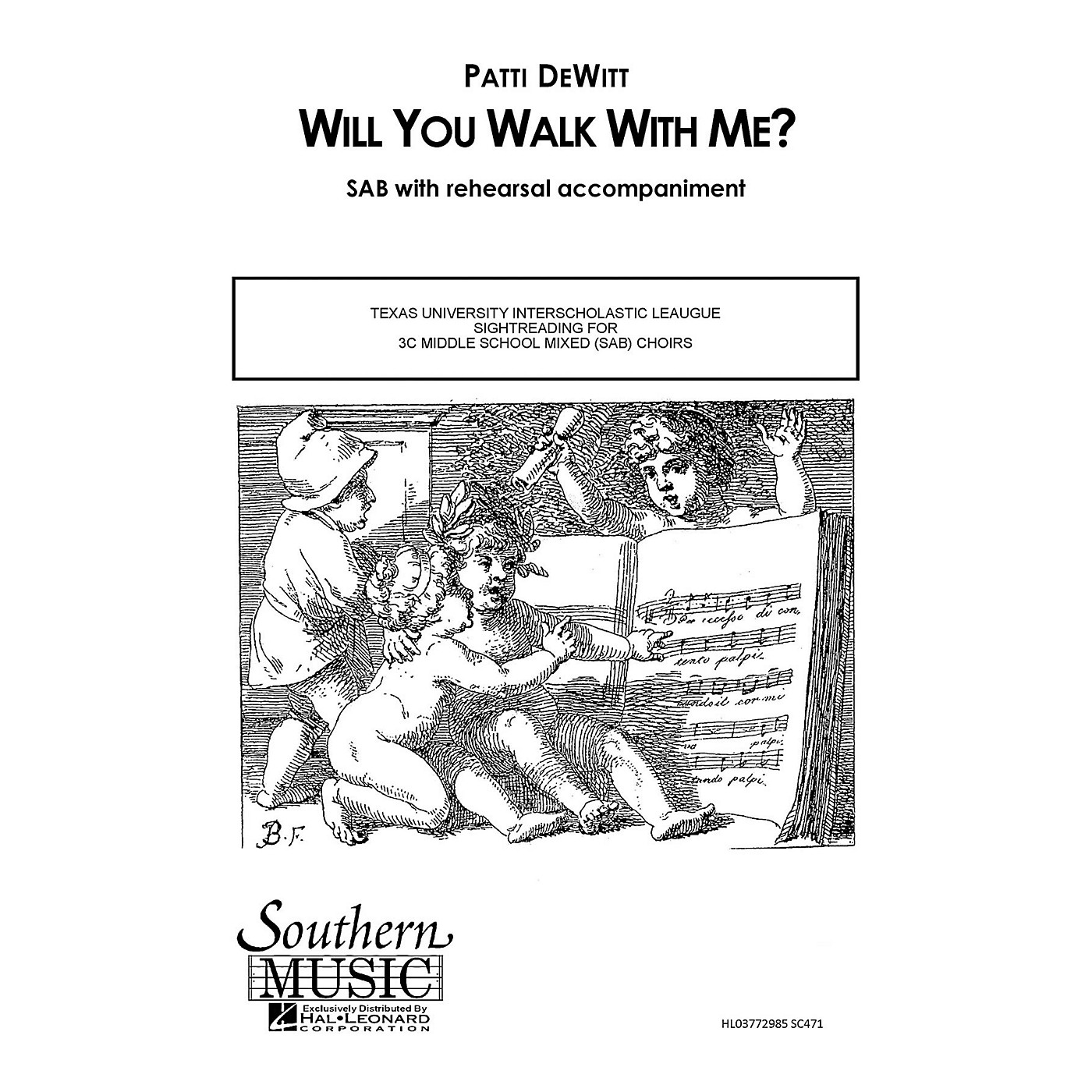 Southern Will You Walk with Me SAB Composed by Patti DeWitt thumbnail