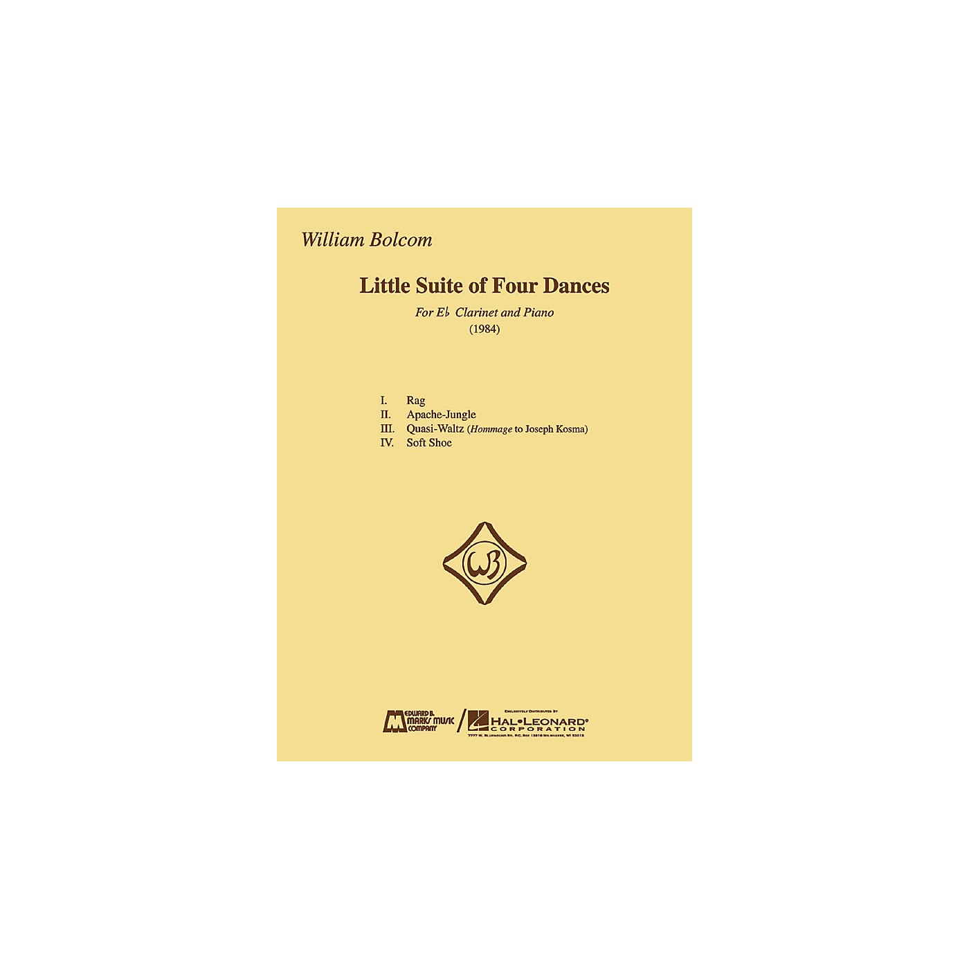 Edward B. Marks Music Company William Bolcom - Little Suite of Four Dances E.B. Marks Series Composed by William Bolcom thumbnail