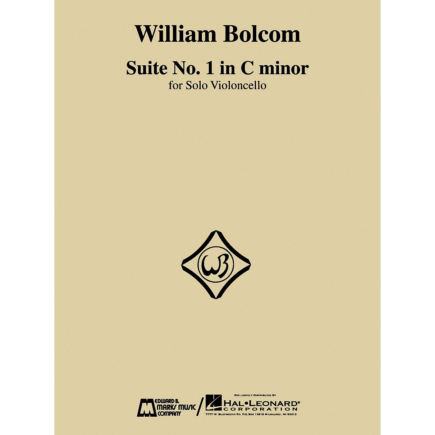 Edward B. Marks Music Company William Bolcom - Suite No. 1 in C Minor (for Solo Violoncello) E.B. Marks Series by William Bolcom thumbnail