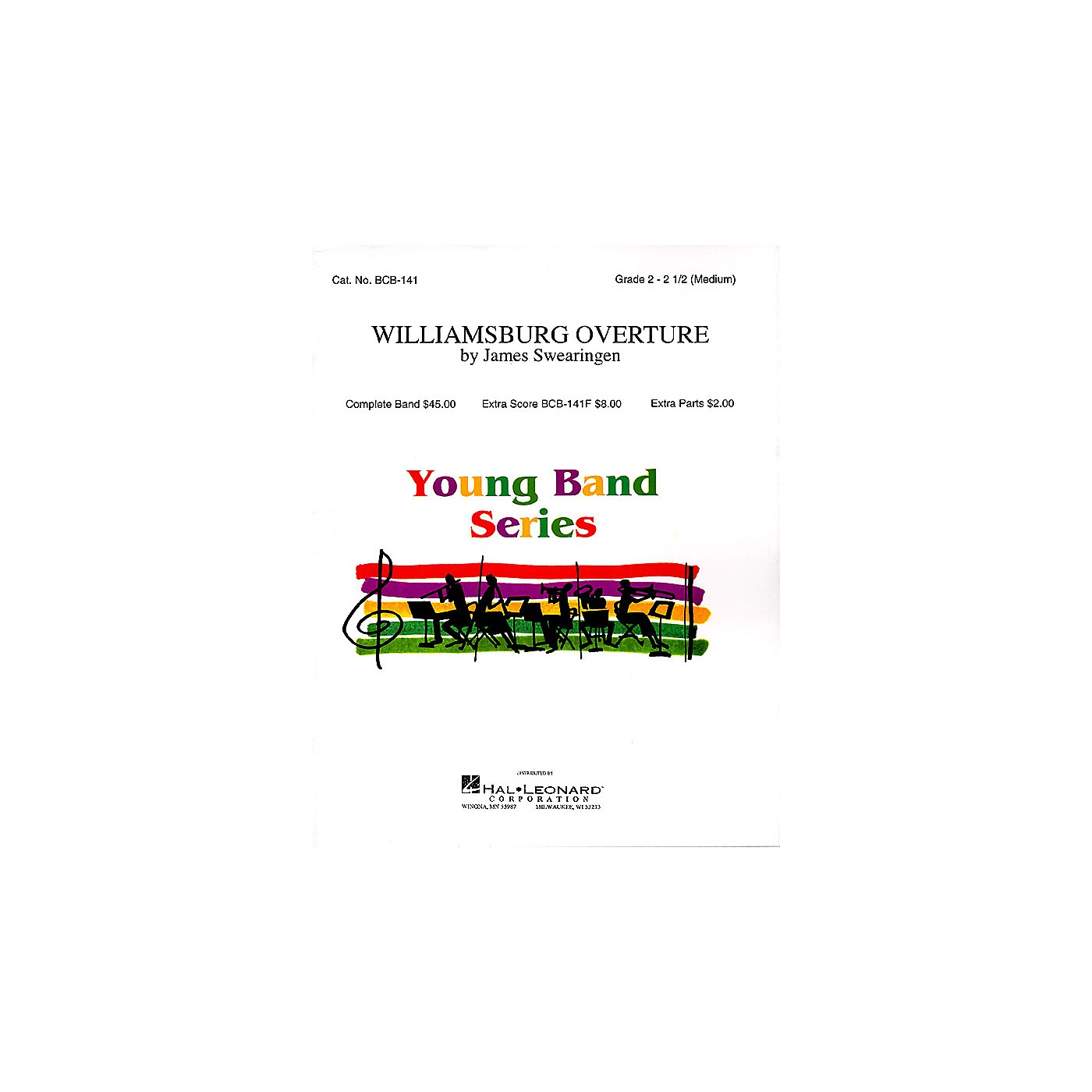 Band Music Press Williamsburg Overture Concert Band Level 2-3 Composed by James Swearingen thumbnail