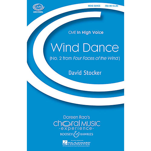 Boosey and Hawkes Wind Dance (No. 2 from Four Faces of the Wind) SSA composed by David Stocker thumbnail