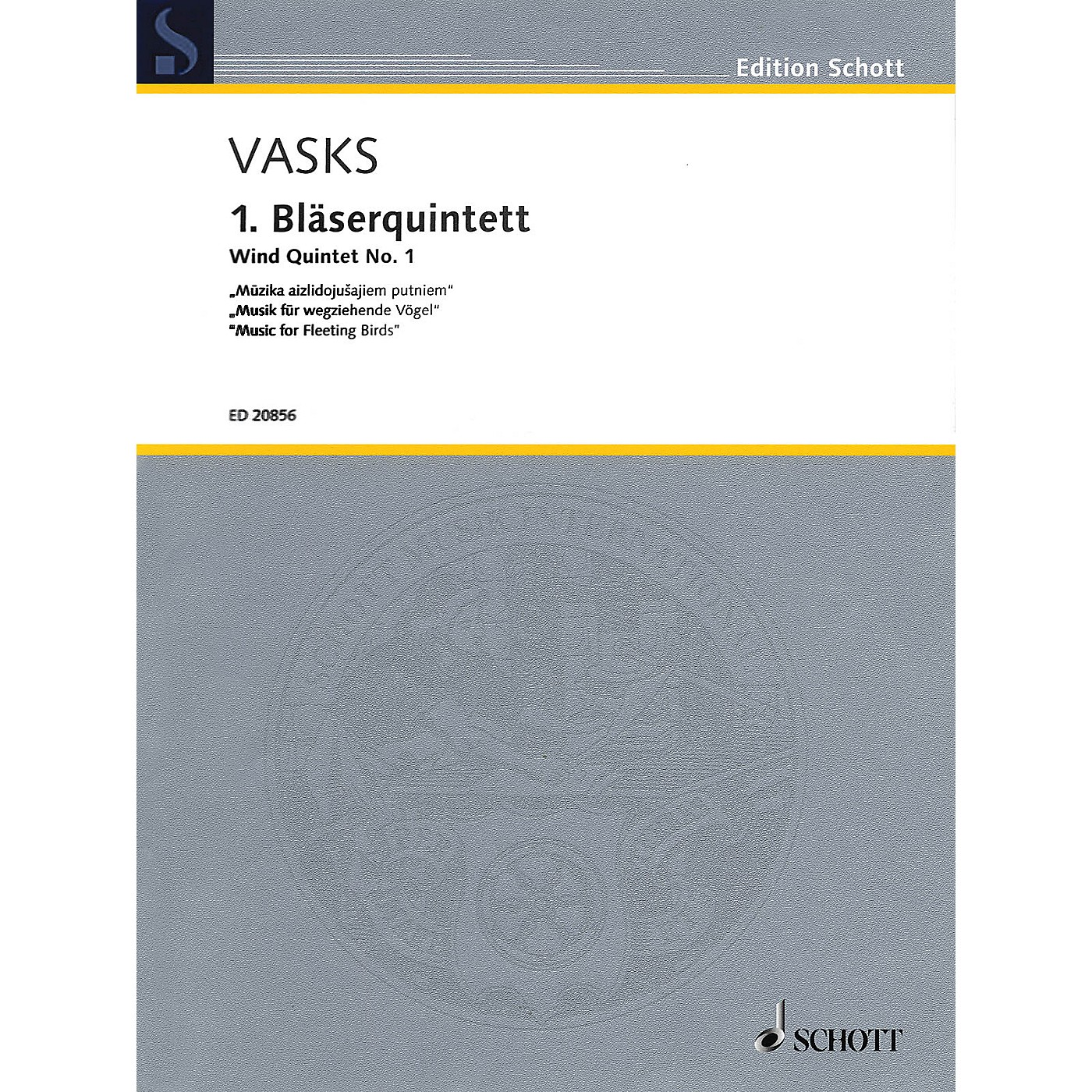 Schott Wind Quintet No. 1 Woodwind Ensemble Series Softcover  by Peteris Vasks thumbnail