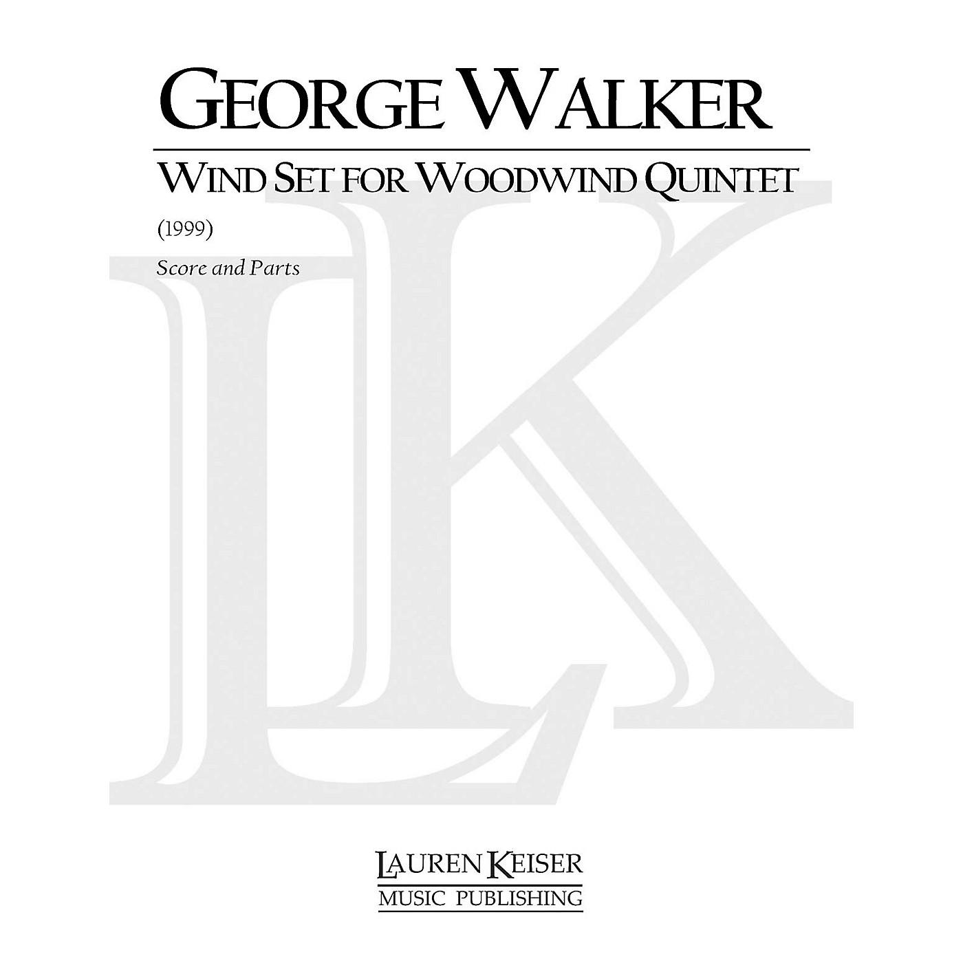 Lauren Keiser Music Publishing Wind Set for Woodwind Quintet (Woodwind Quintet) LKM Music Series by George Walker thumbnail