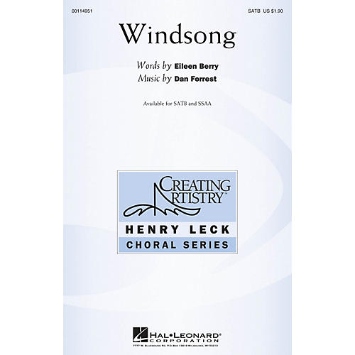 Hal Leonard Windsong SATB composed by Dan Forrest thumbnail