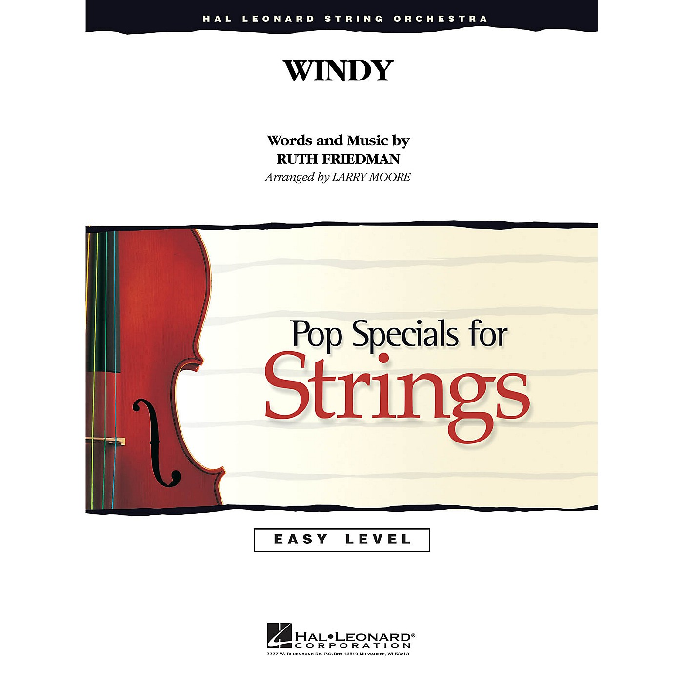 Hal Leonard Windy Easy Pop Specials For Strings Series by The Association Arranged by Larry Moore thumbnail