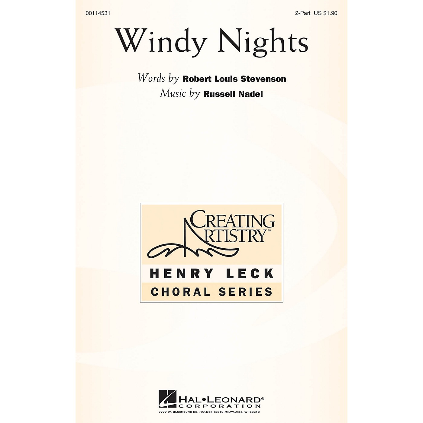 Hal Leonard Windy Nights 2PT TREBLE composed by Russell Nadel thumbnail