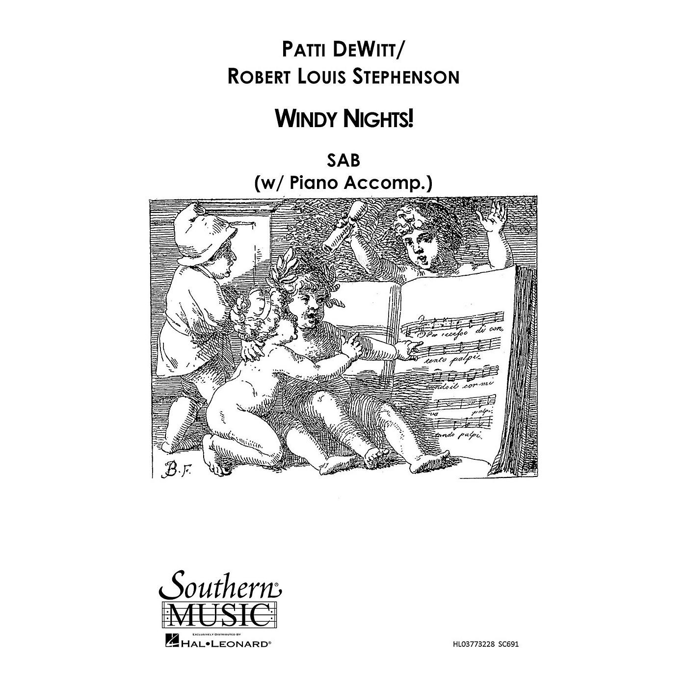 Southern Windy Nights SAB Composed by Patti DeWitt thumbnail