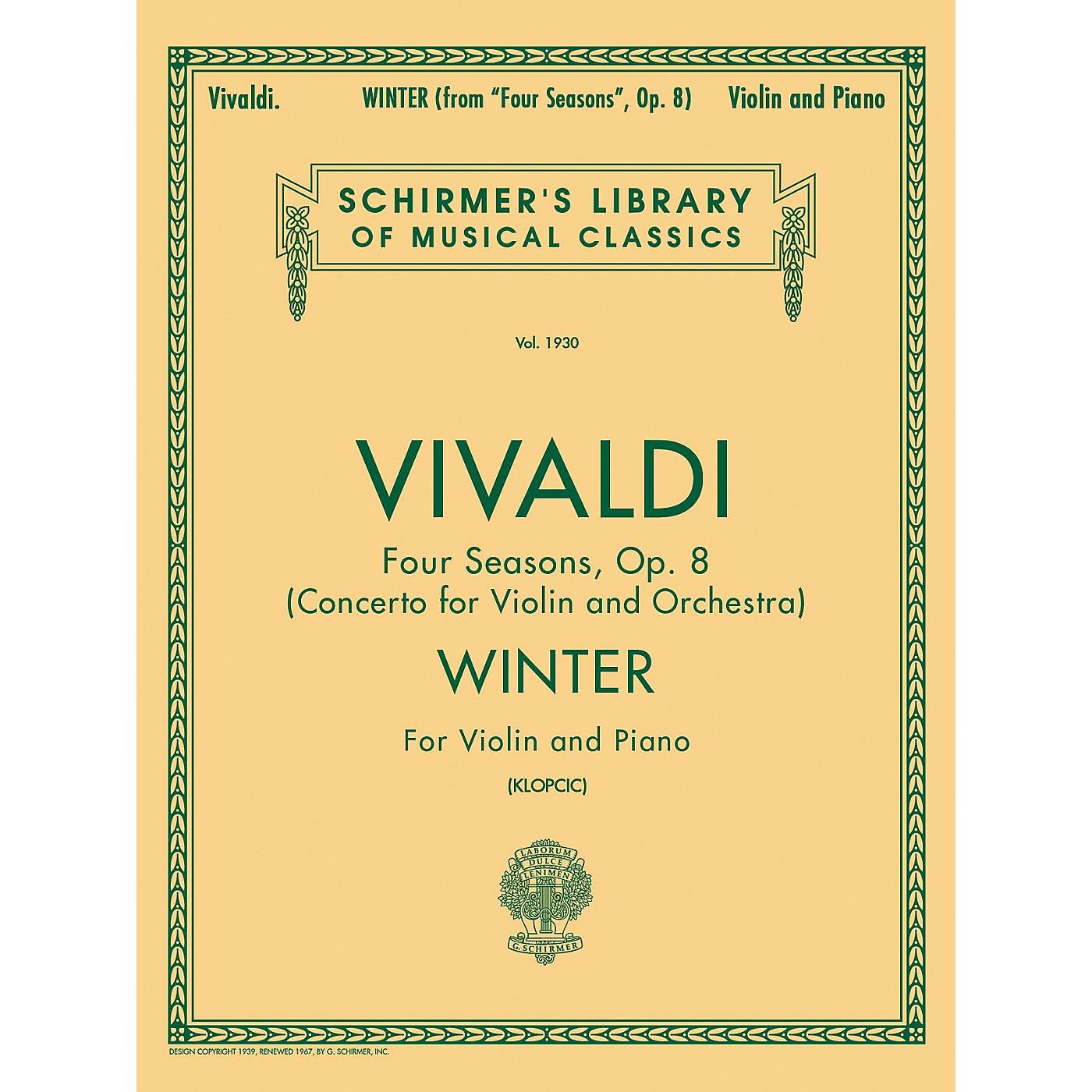 G. Schirmer Winter From Four Seasons Violin / Piano Op 8 By Vivaldi thumbnail