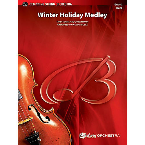 Alfred Winter Holiday Medley String Orchestra Grade 2 Set thumbnail