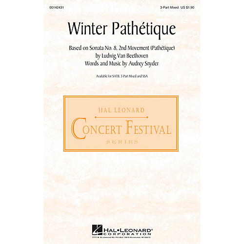 Hal Leonard Winter Pathétique 3-Part Mixed composed by Audrey Snyder thumbnail