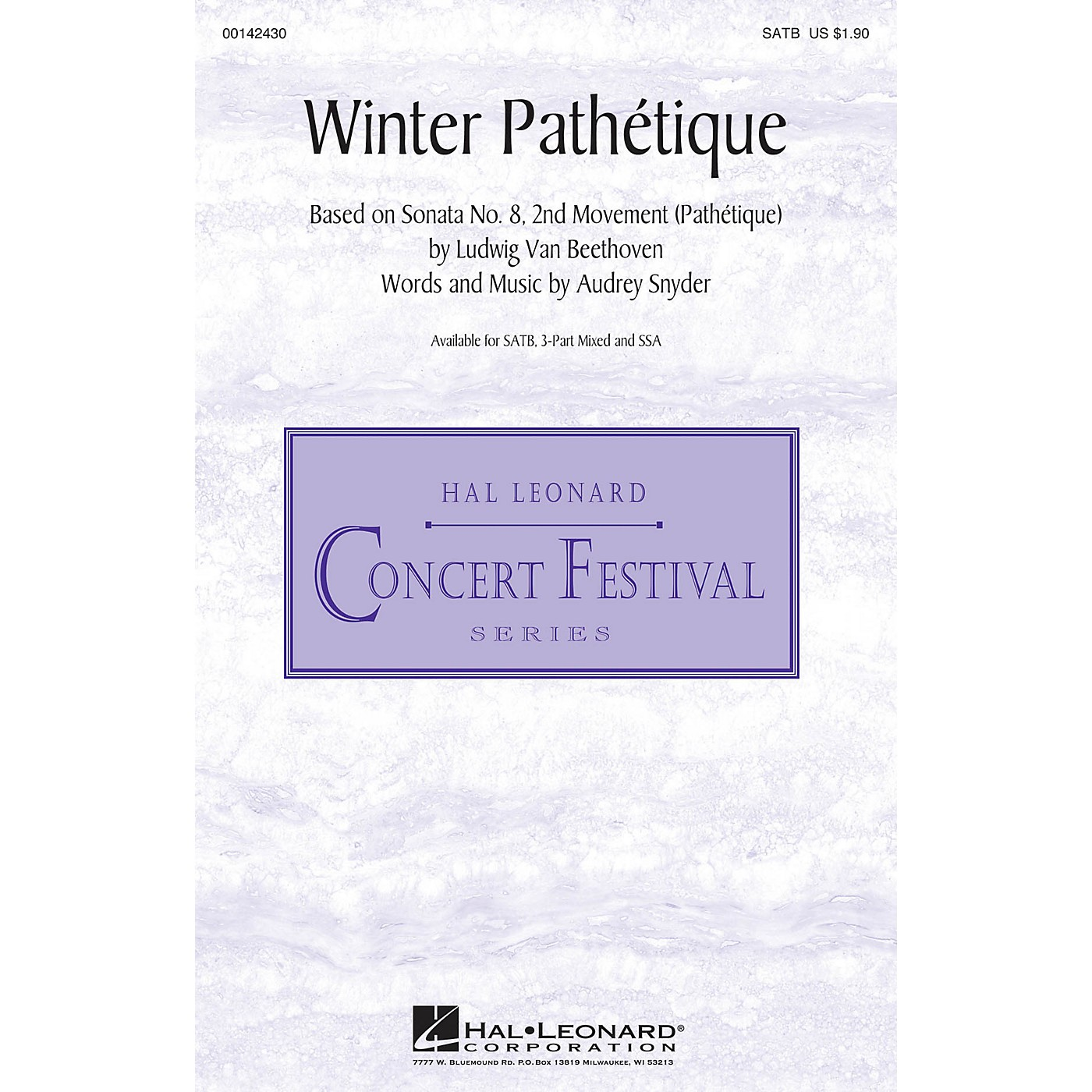 Hal Leonard Winter Pathétique SATB composed by Audrey Snyder thumbnail