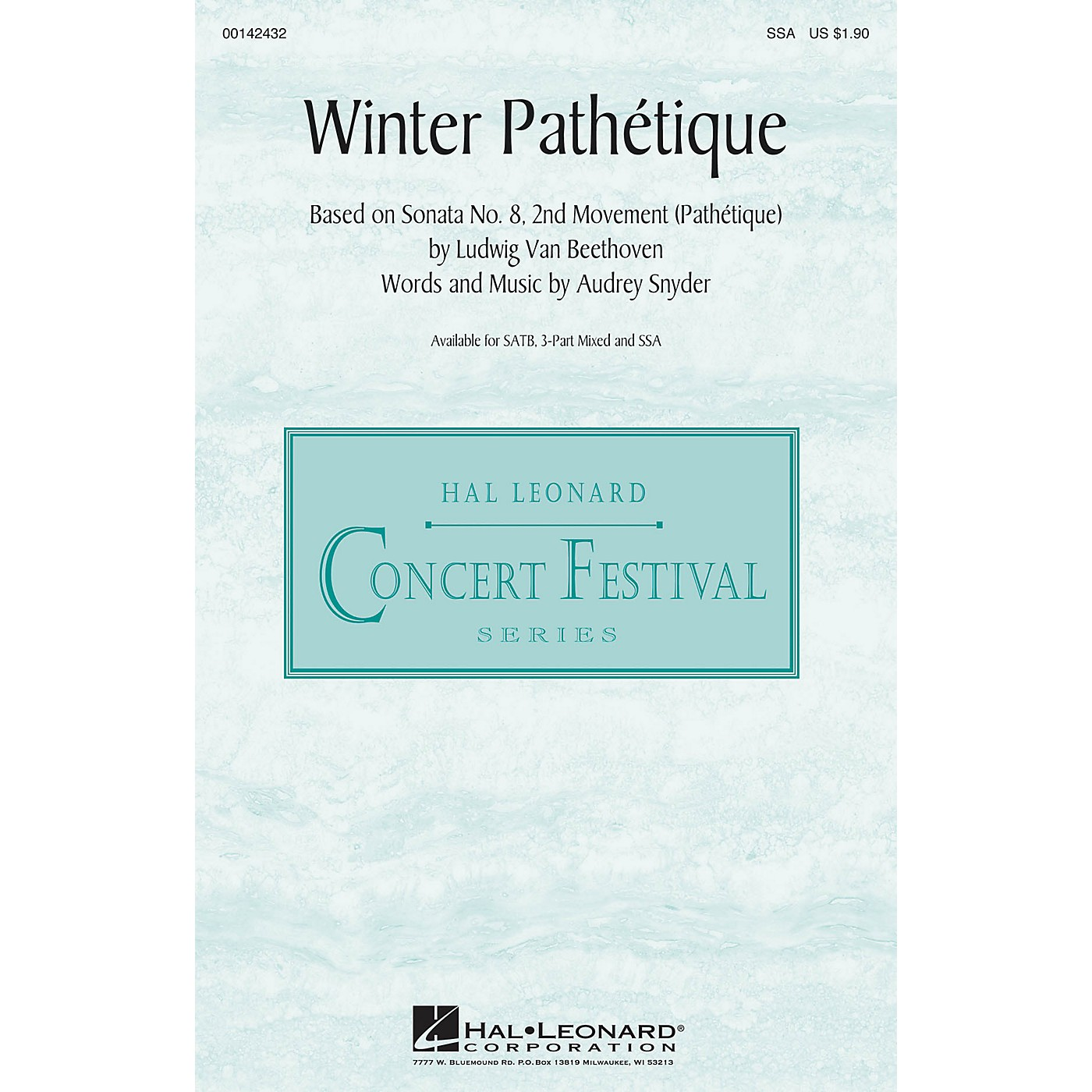 Hal Leonard Winter Pathétique SSA composed by Audrey Snyder thumbnail