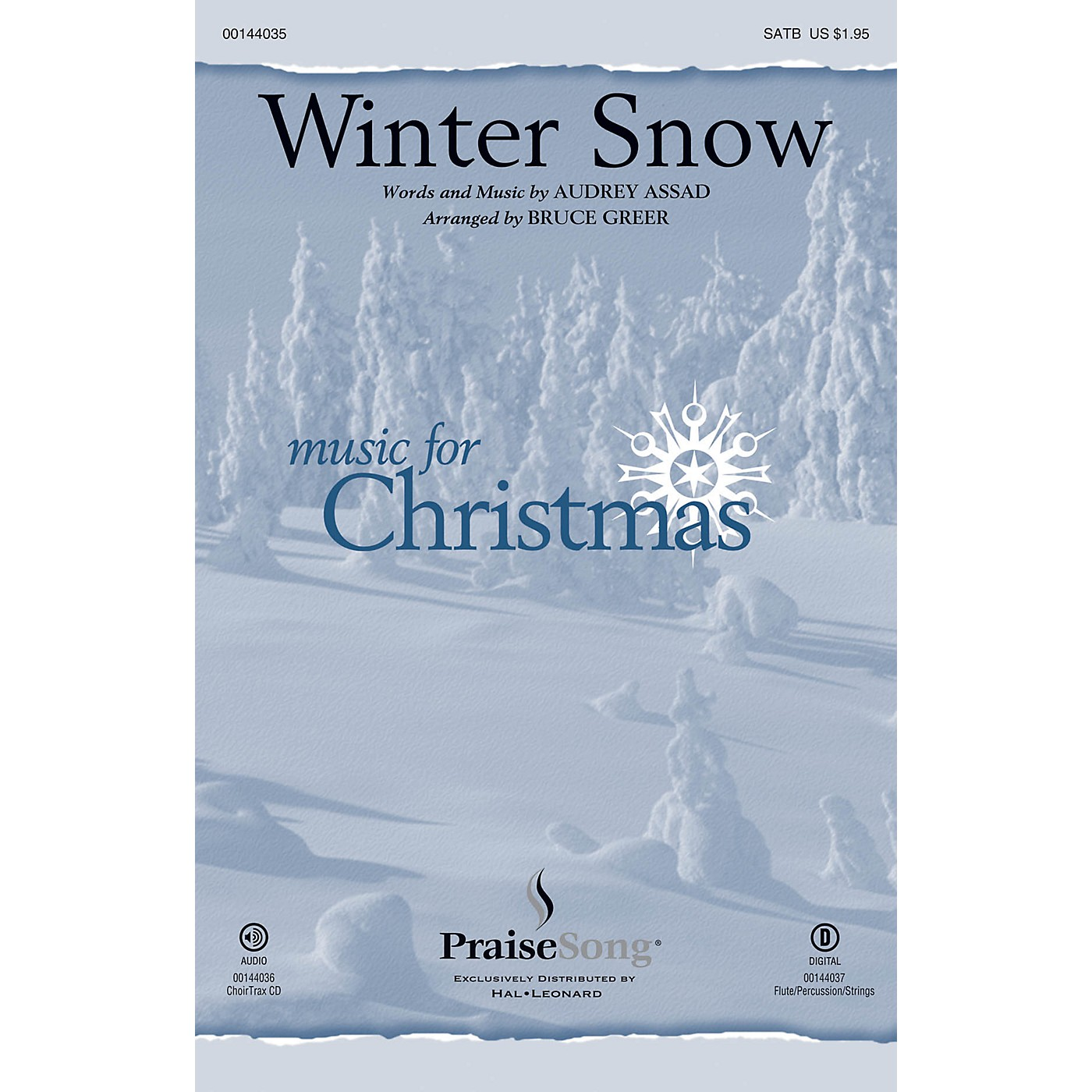 PraiseSong Winter Snow SATB by Audrey Assad arranged by Bruce Greer thumbnail