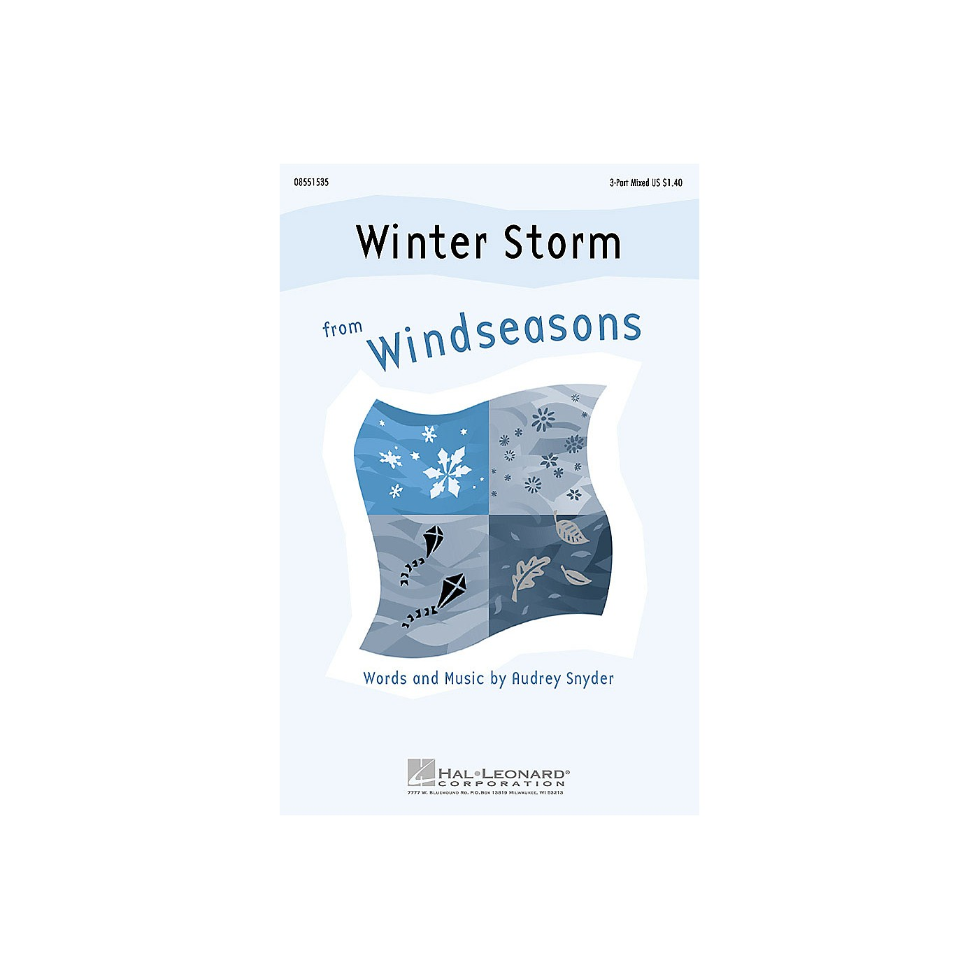 Hal Leonard Winter Storm (from Windseasons) 3-Part Mixed composed by Audrey Snyder thumbnail