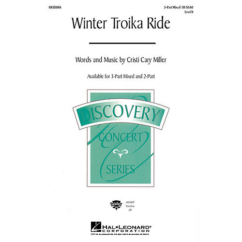 Hal Leonard Winter Troika Ride 3-Part Mixed composed by Cristi Cary Miller thumbnail