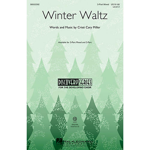 Hal Leonard Winter Waltz (Discovery Level 2) 2-Part Composed by Cristi Cary Miller thumbnail