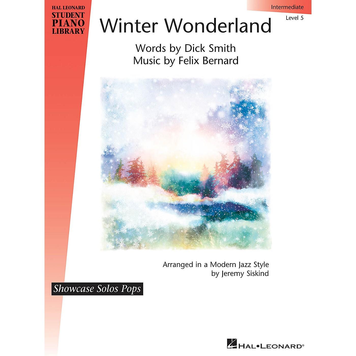 Hal Leonard Winter Wonderland Hal Leonard Student Piano Library Showcase Solos Pops level 5 Intermediate by Felix Bernard thumbnail