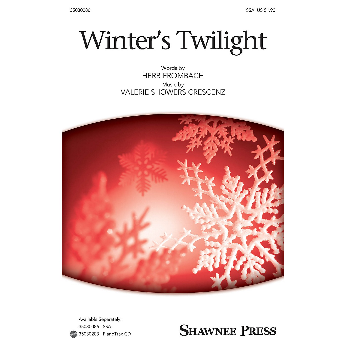Shawnee Press Winter's Twilight SSA composed by Herb Frombach thumbnail