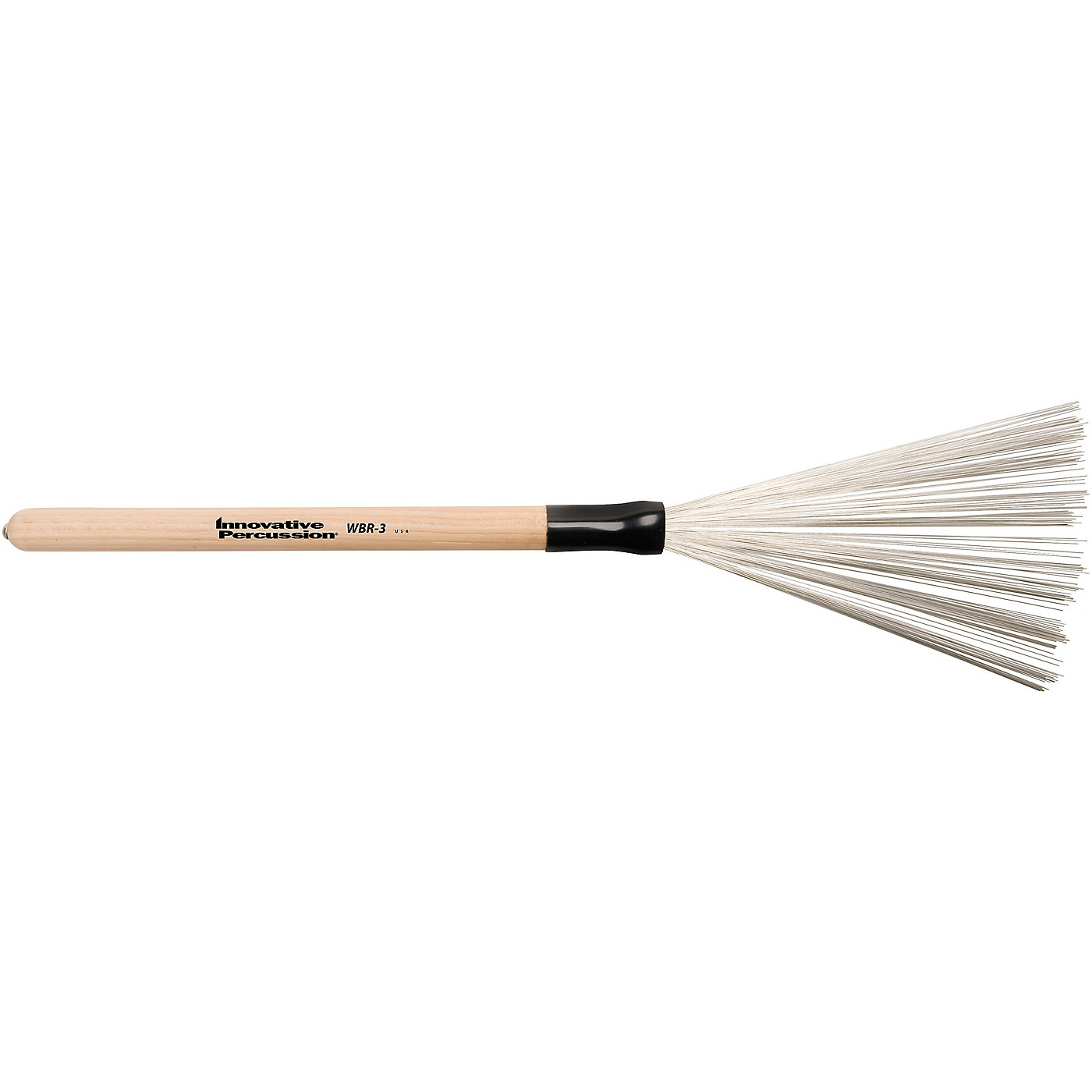 Innovative Percussion Wire Brush with Fixed Wood Handle thumbnail