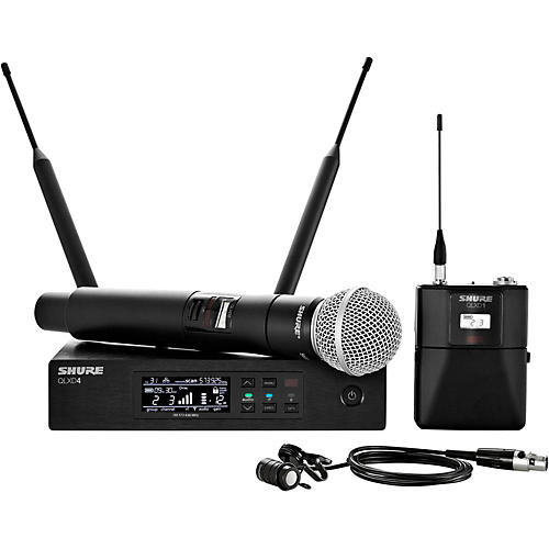 Shure Wireless Bodypack and Vocal Combo System with WL185 and SM58 thumbnail
