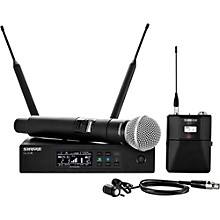 Shure Wireless Bodypack and Vocal Combo System with WL185 and SM58