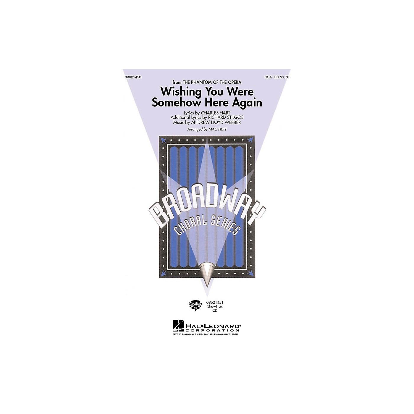 Hal Leonard Wishing You Were Somehow Here Again ShowTrax CD Arranged by Mac Huff thumbnail