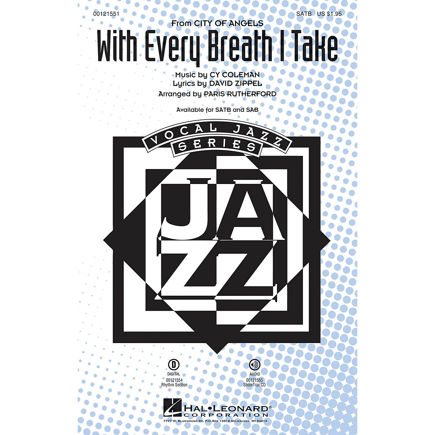 Hal Leonard With Every Breath I Take (from City of Angels) SAB Arranged by Paris Rutherford thumbnail