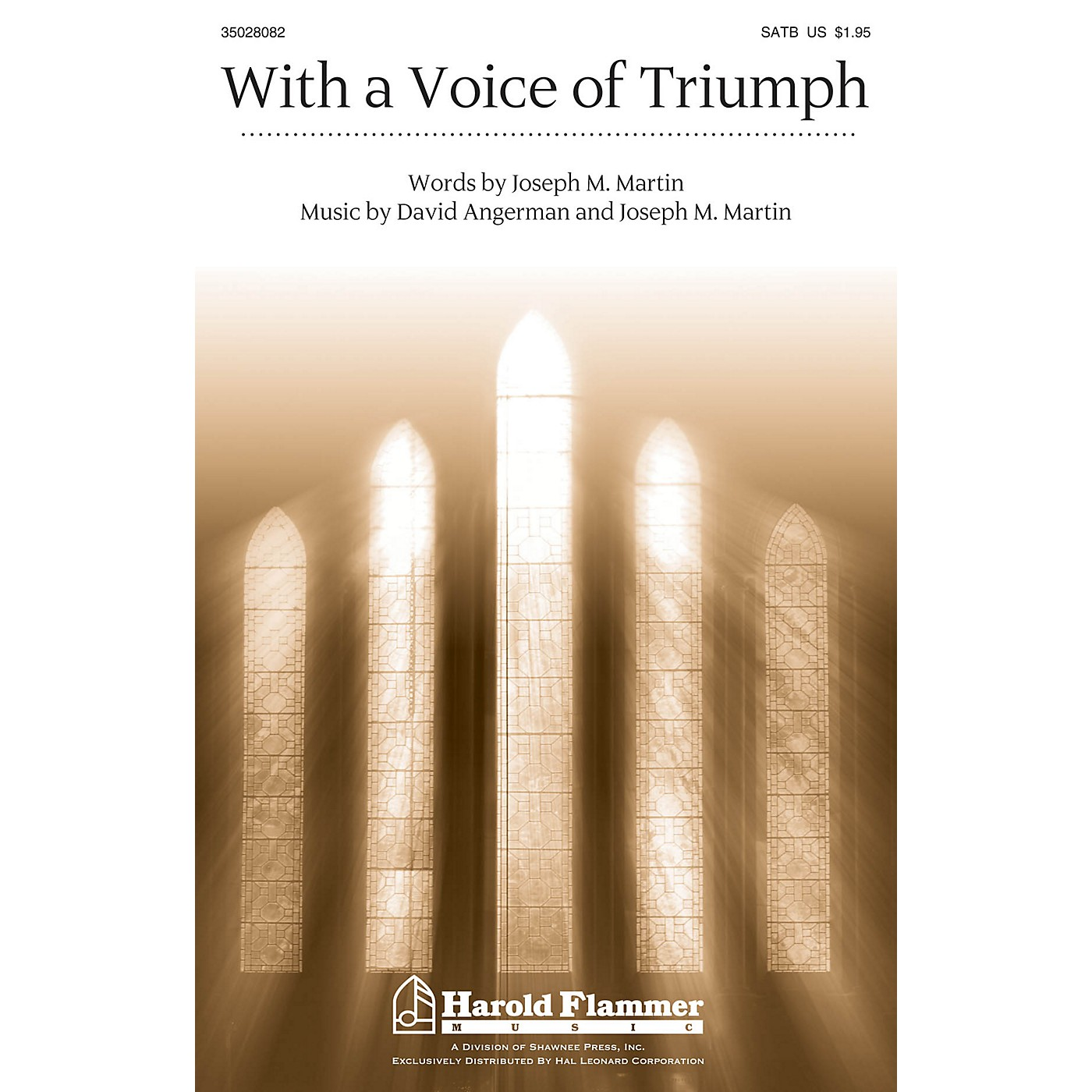 Shawnee Press With a Voice of Triumph SATB, Organ arranged by Joseph M. Martin thumbnail