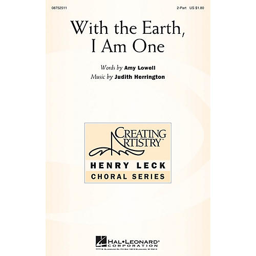 Hal Leonard With the Earth, I Am One 2-Part composed by Judith Herrington thumbnail