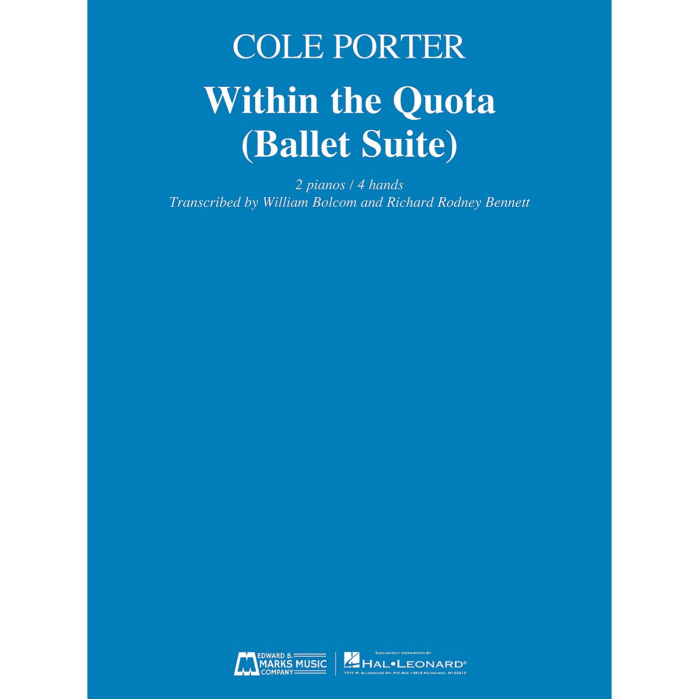 Edward B. Marks Music Company Within the Quota (Ballet Suite) E.B. Marks Series Softcover Composed by Cole Porter thumbnail