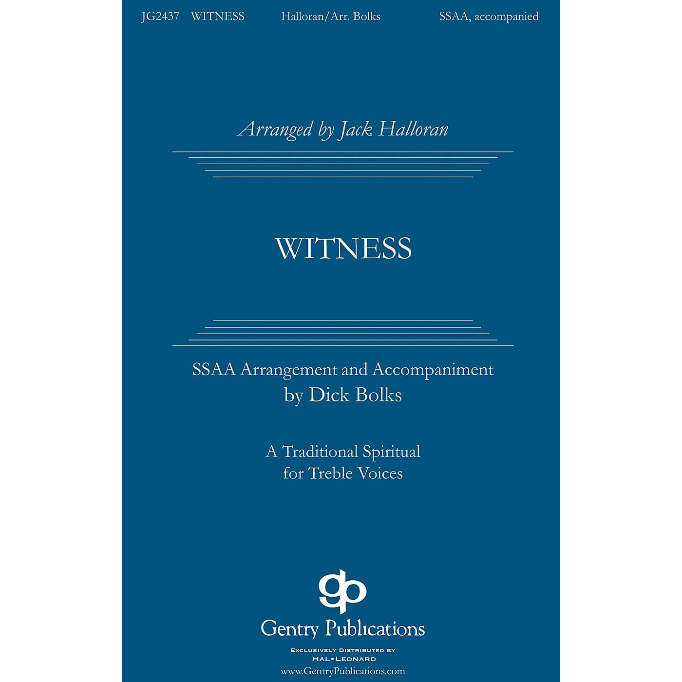Gentry Publications Witness SATB DV A Cappella Arranged by Jack Halloran thumbnail