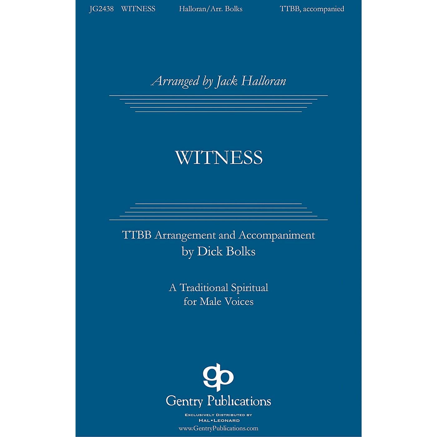 Gentry Publications Witness TTBB arranged by Jack Halloran thumbnail