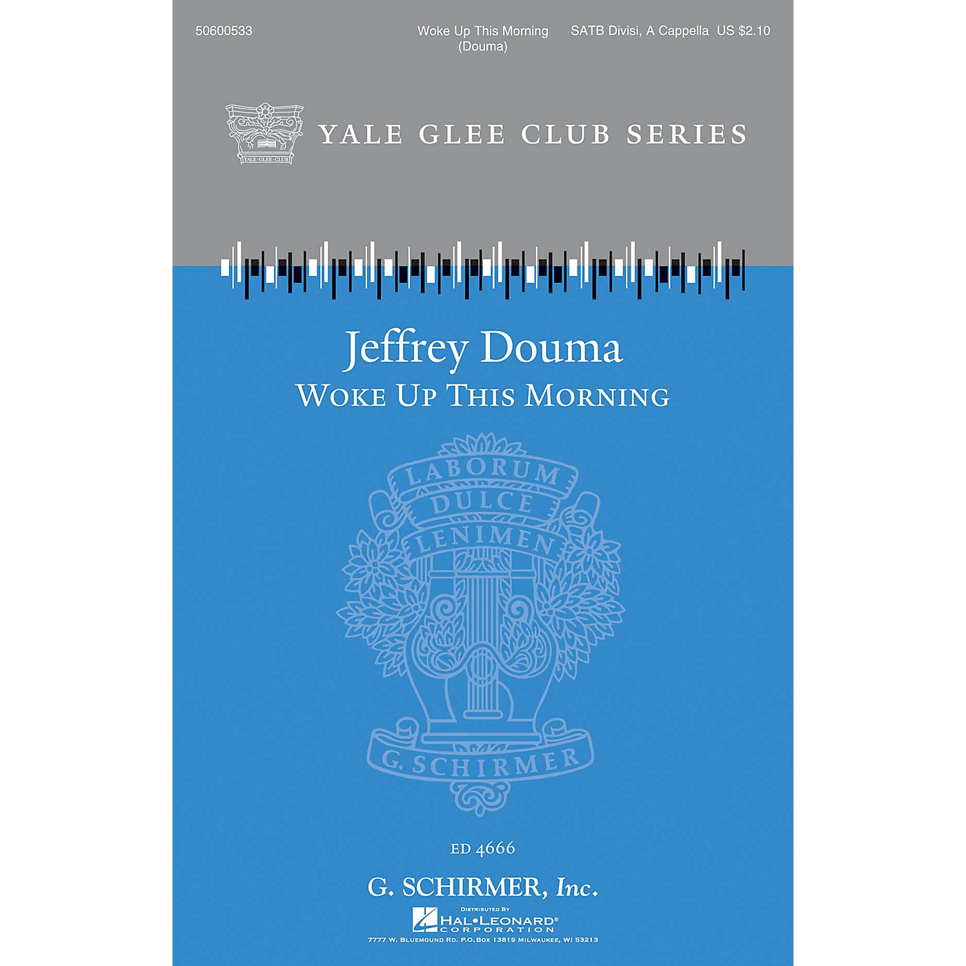 G. Schirmer Woke Up This Morning (Yale Glee Club New Classic Choral Series) SATB a cappella composed by Jeffrey Douma thumbnail