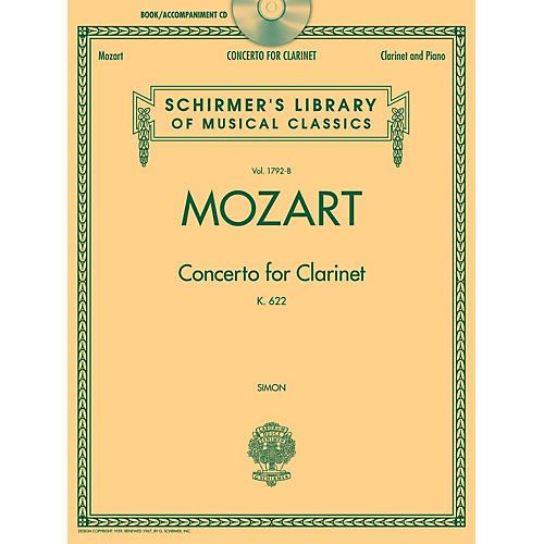 G. Schirmer Wolfgang Amadeus Mozart - Concerto for Clarinet, K. 622 Woodwind Series BK/CD thumbnail