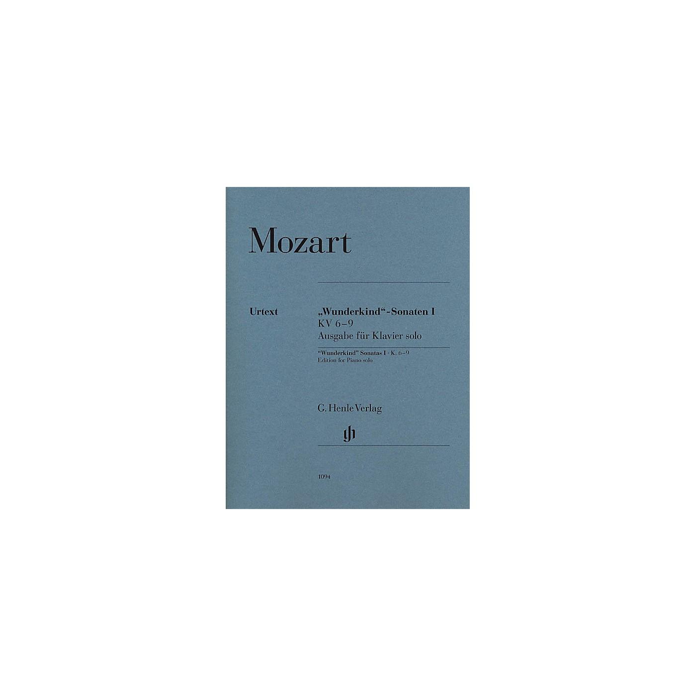 G. Henle Verlag Wolfgang Amadeus Mozart - Wunderkind Sonatas, Volume 1, K. 6-9 Henle Music Softcover Edited by Seiffert thumbnail