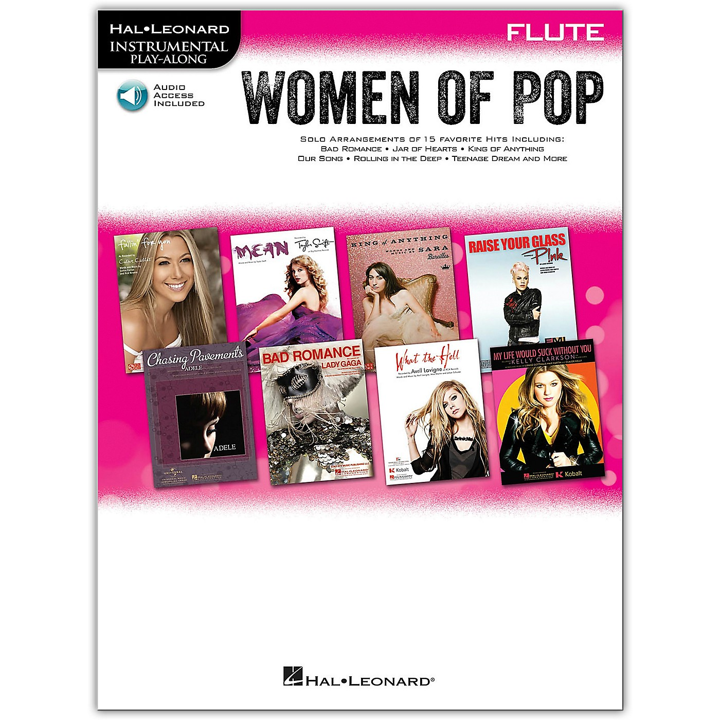 Hal Leonard Women Of Pop For Flute - Instrumental Play-Along Book/Online Audio thumbnail
