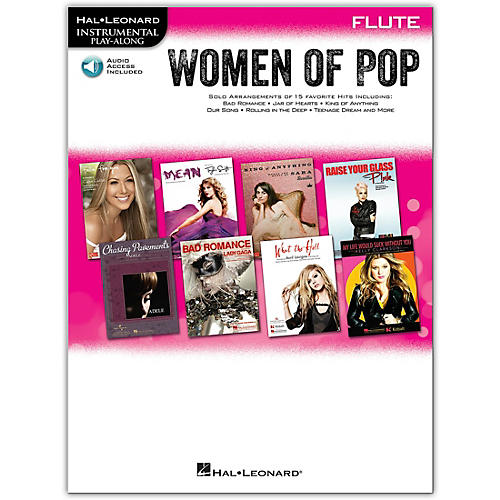 Hal Leonard Women Of Pop For Flute - Instrumental Play-Along Book/Online Audio thumbnail