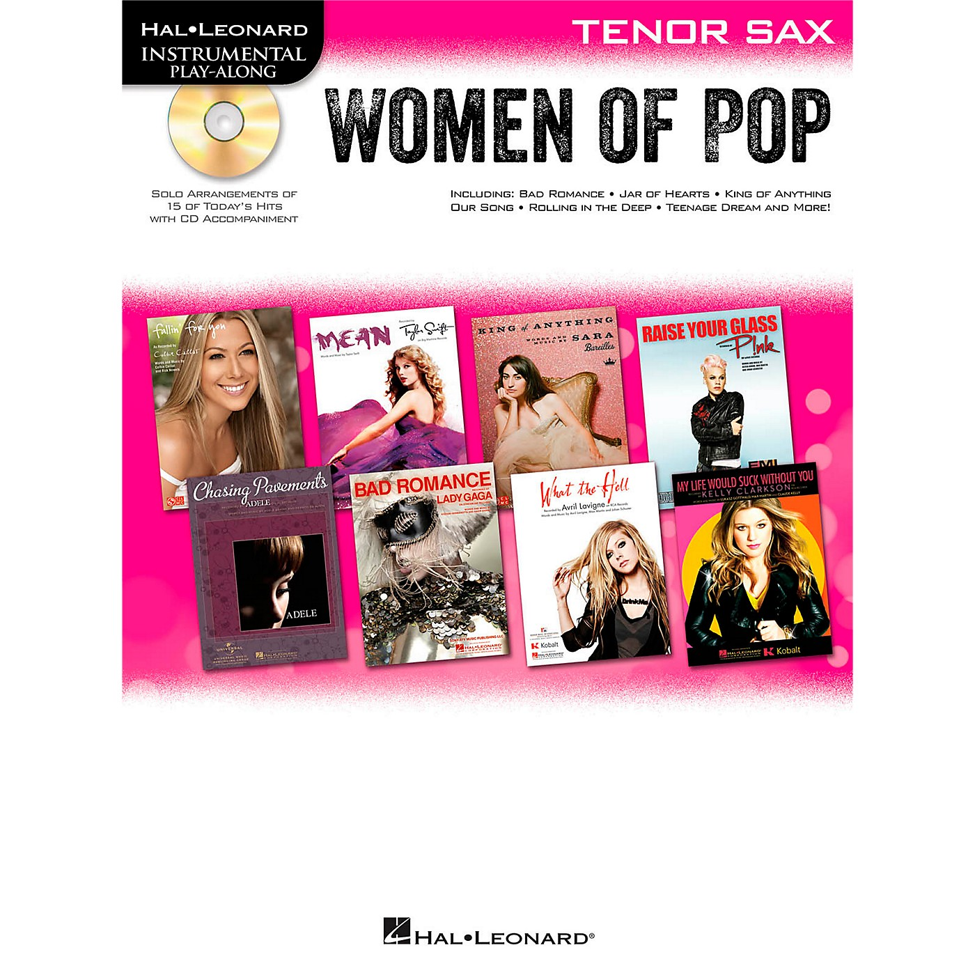 Hal Leonard Women Of Pop For Tenor Sax - Instrumental Play-Along Book/CD thumbnail