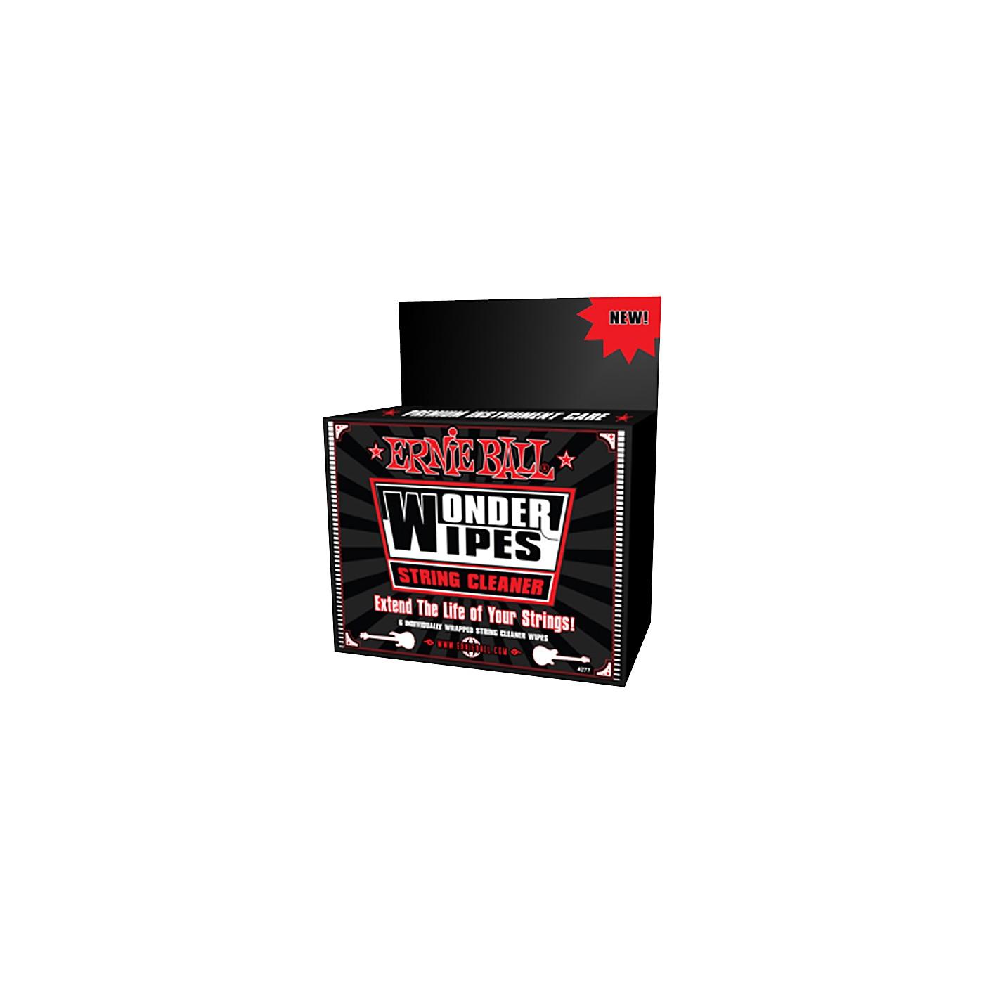 Ernie Ball Wonder Wipe String Cleaner 6-pack thumbnail
